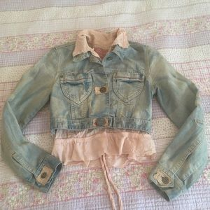 Shangana Heaven on Earth Cropped Denim Jacket